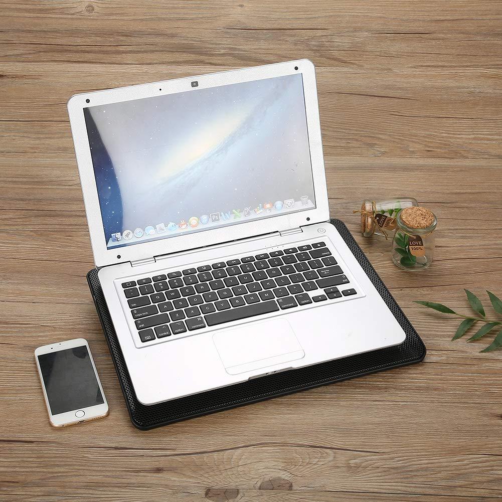 Mugast Laptop PC K/ühler,LED Notebook K/ühler Laptop Cooler K/ühlpad Unterlage Schneller K/ühlung,Tragbar USB 5 L/üfter Bel/üfteter Notebookst/änder Cooling Pad f/ür Computer PC Schwarz