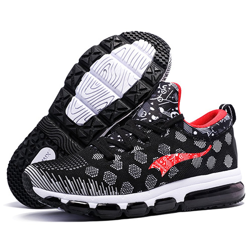 ONEMIX Mens Mesh Sneakers Air Cushion Running Walking Traling Shoes Black White Red Size 7.0 US by ONEMIX (Image #8)