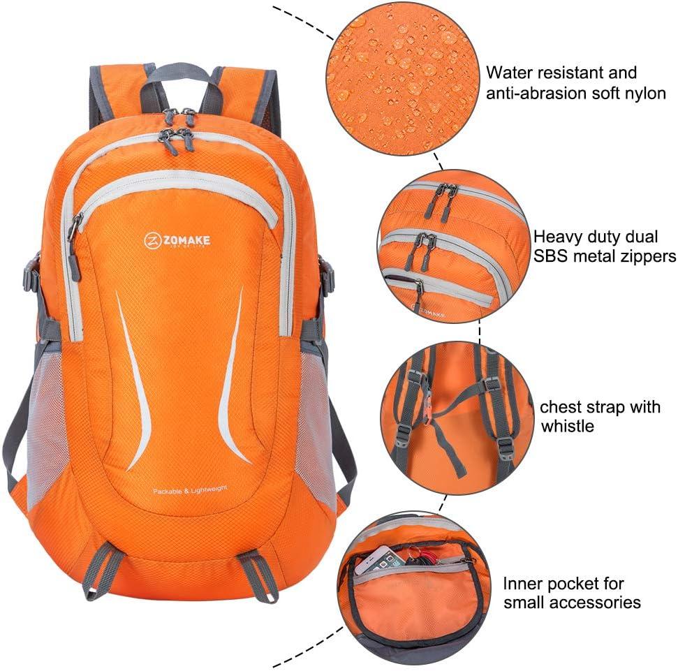 ZOMAKE Lightweight Packable Backpack Water Resistant Rucksack Foldable Travel Daysack for Men Women Outdoor