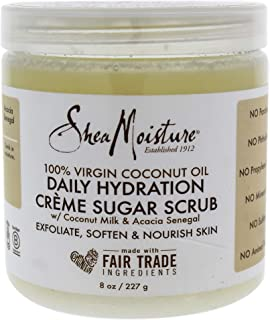 product image for Shea Moisture 100 Percent Virgin Coconut Oil Daily Hydration Creme Sugar Scrub for Unisex, 8 Ounce