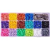 Pandahall–Lote de 5000 abalorios, 10Colores, planchables, mezcla de colores, 3~ 3,3x 2,5~ 2,6mm, plástico, multicolor 8, 5x5mm