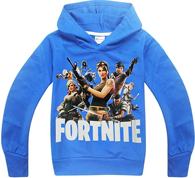 SERAPHY Unisex Fortnite Hoodies PS4 Gaming Top Sweaters Jumper Chaquetas de Manga Larga azul-120