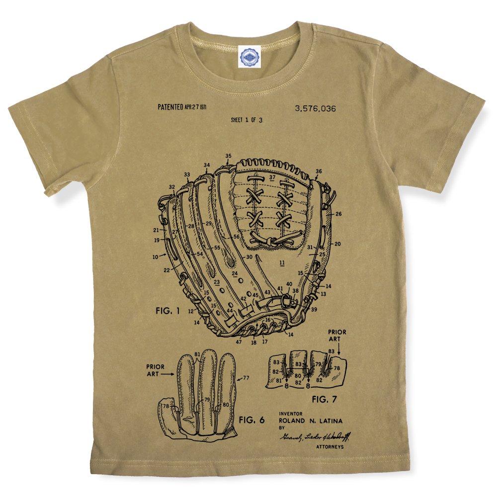 Baseball Glove Patent Kids T-Shirt Hank Player U.S.A