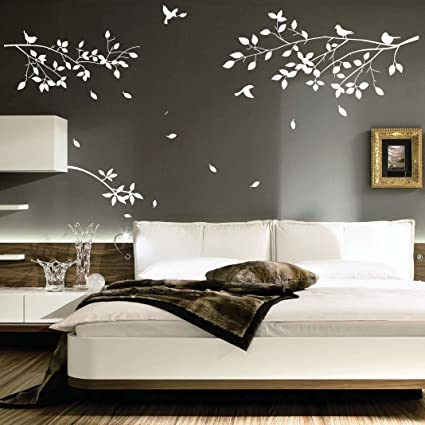 Large Tree Branches Birds Art Wall Stickers/Wall Decals/Wall Transfers/Wall  Tattoo