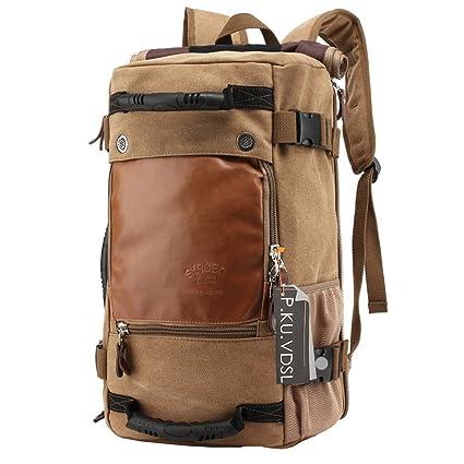 Hiking Daypacks, P.KU.VDSL Vintage Canvas Laptop Backpack for Outdoor  Hiking Climbing 6d1c6c22b1