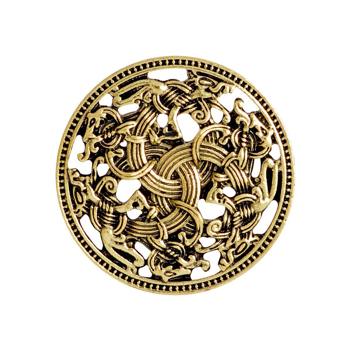 Qihoo Norse Medieval Viking Shield Symbol Brooch Celtic Norse