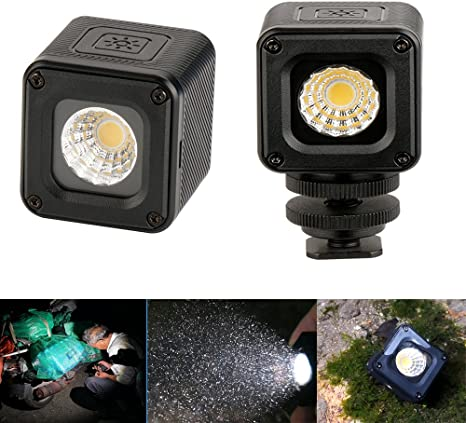 Ulanzi L1 - Mini luz LED para cámara fotográfica (Impermeable ...