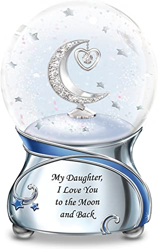 The Bradford Exchange My Daughter, I Love You to The Moon and Back Snowglobe with Moon and Heart Charm