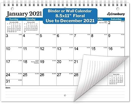 Images of 2021 Spiral Calendar