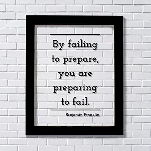 Amazoncom Benjamin Franklin Floating Quote By Failing To