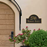 Metal Address Plaque Personalized Cast with Arch