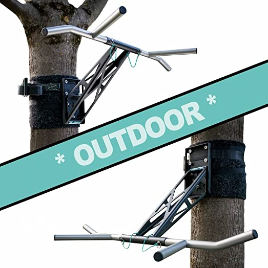 PULLUP DIP Portable Pull Up Dip Bar, Mobile for Wall Mount and Tree Post, Indoor Outdoor Pull Up Dip Bar Combo for Home and Garden Park, Premium Quality Chin Up Dip bar