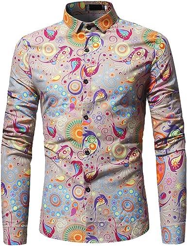 Dihope - Camisa de manga larga para hombre, de verano caqui X-Large (tallas de fabricante 2XL): Amazon.es: Ropa y accesorios
