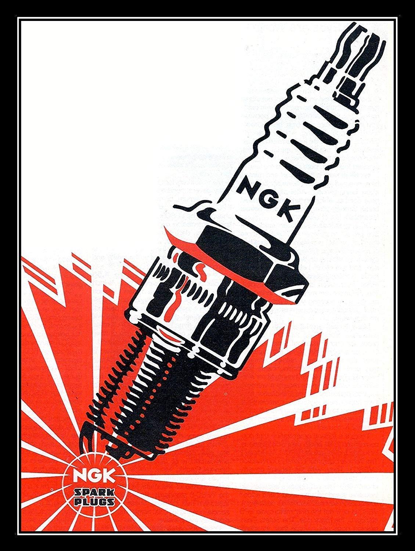 Ngk Spark Plug Placa Vintage Metal Cartel de Chapa Cartel ...