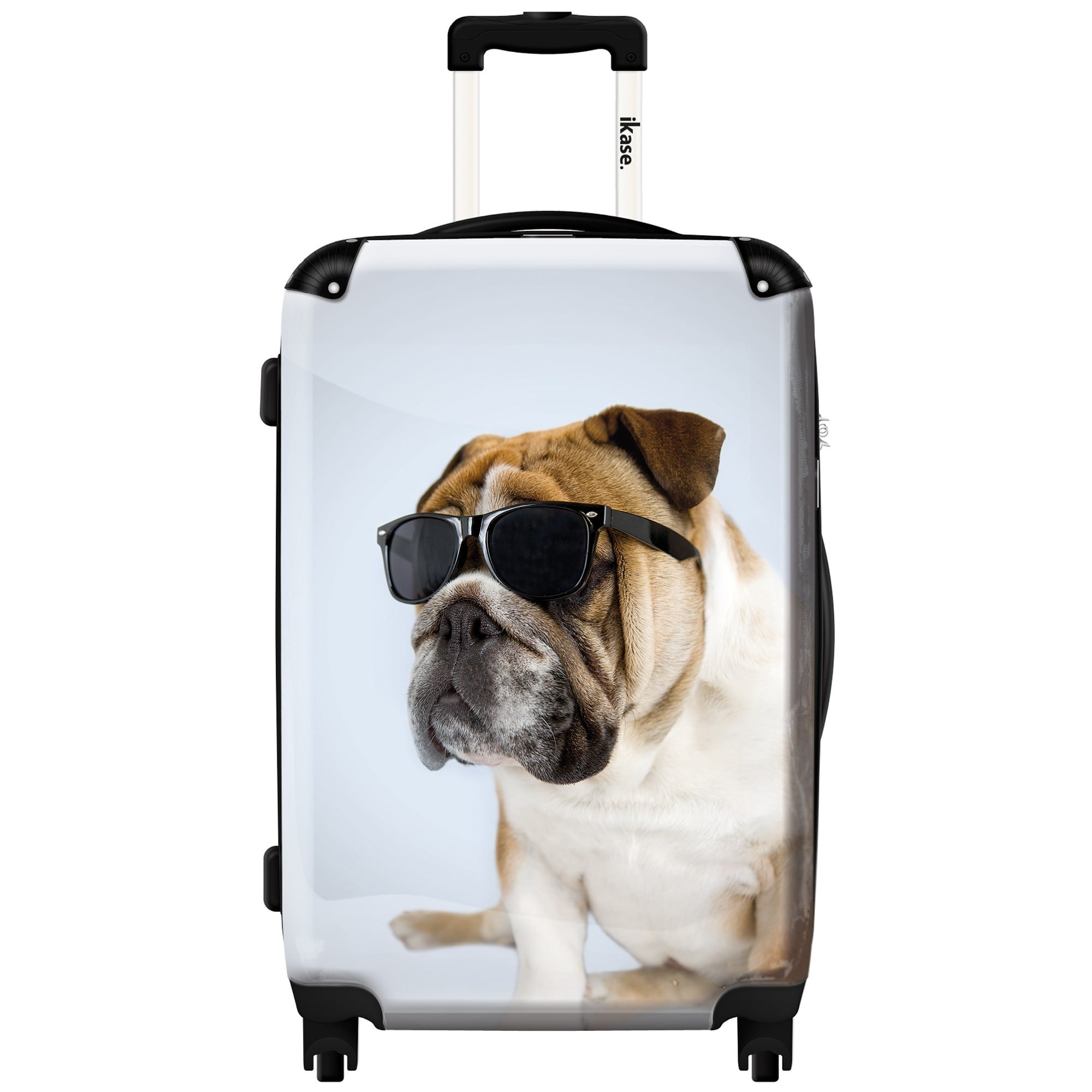 iKase 'Dog with a Black Glasses' ,Check-in 24-inch .Hardside Spinner Luggage by iKase®