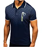 Howely Men's Comfort Soft Big & Tall Casual Loose Summer Golf Polo Shirt