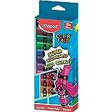 Maped - Peinture Gouache Enfant - 12 Couleurs Intenses Super Pigmentées - Facile à Ouvrir - Bouchon à Clapet Imperdable - Boîte Carton de 12 Tubes de 12 ml