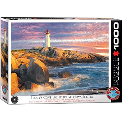EuroGraphics 5437 Peggy's Cove Lighthouse 1000Piece Puzzle: Toys & Games