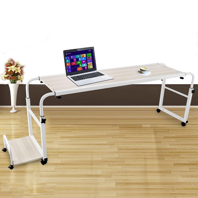 succebuy Overbed Laptop tabla 39,4 pulgadas mesa para cama con ...