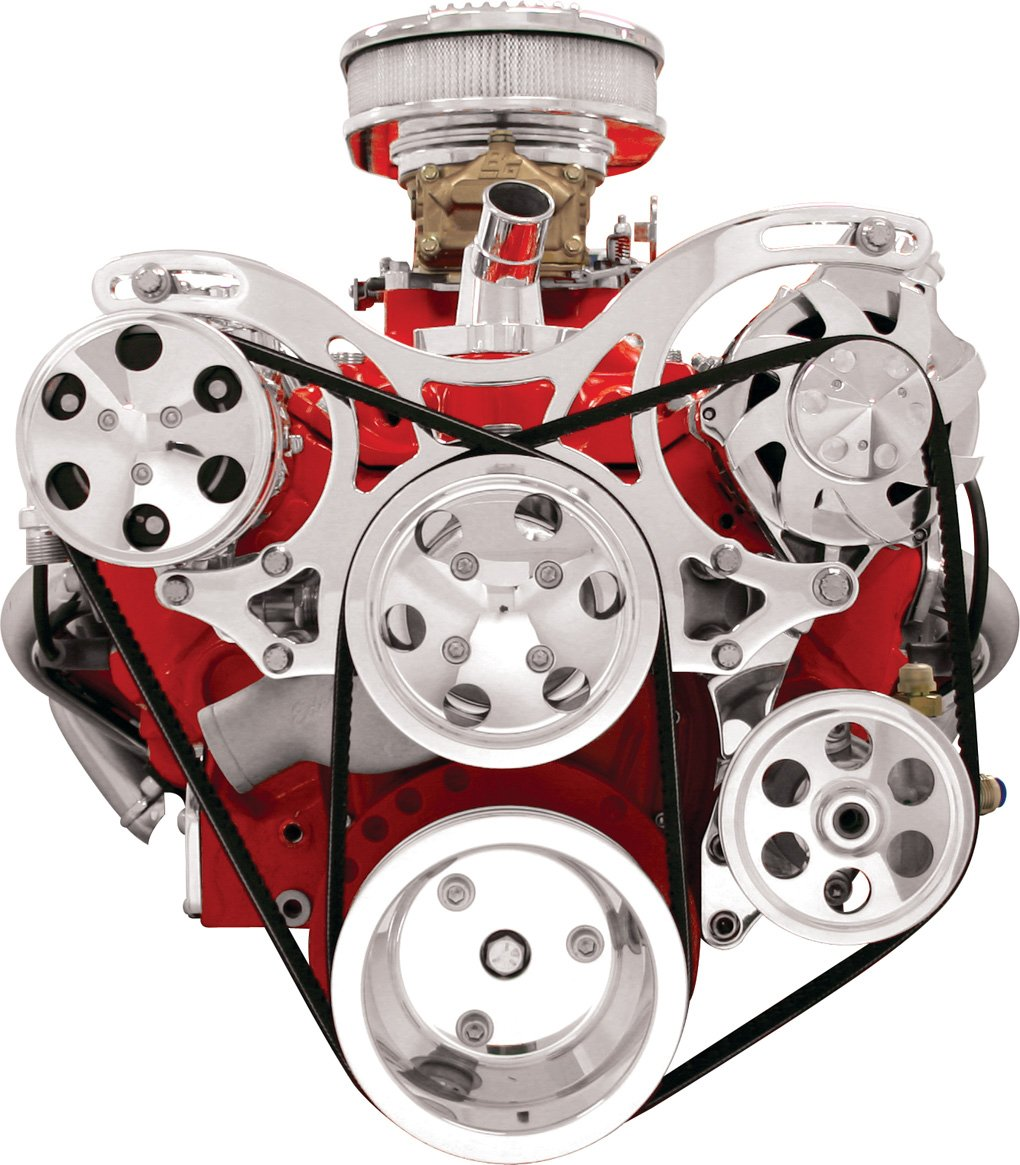 Billet Specialties V3220 V-Trac Pulley System for Small Block Chevy by Billet Specialties (Image #1)