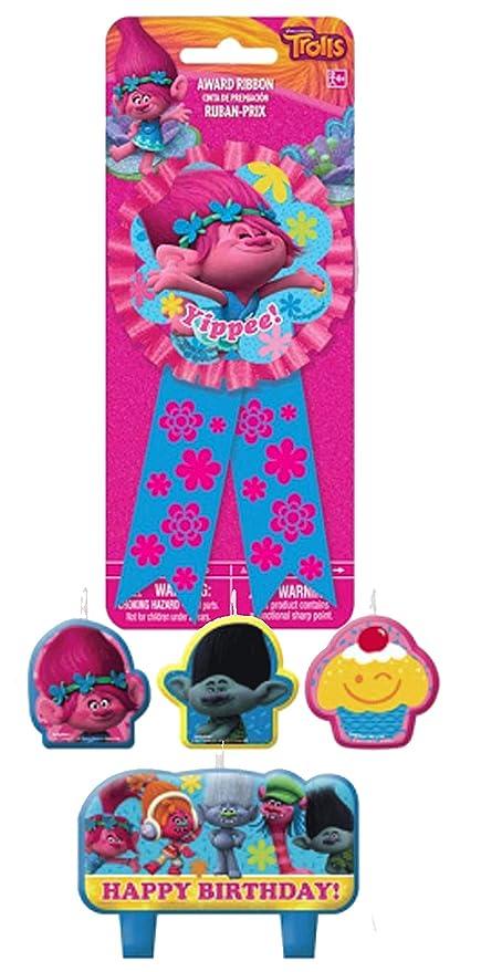 DreamWorks Trolls Vela de Fiesta de cumpleaños - Plus Trolls ...