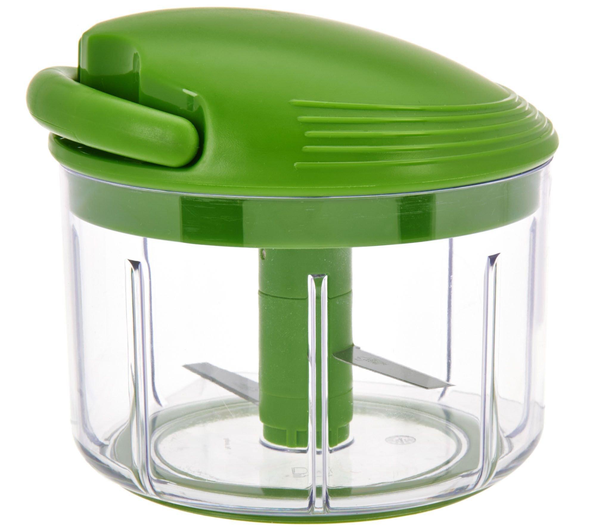 Kuhn Rikon 2.4 Cup Pull Chop Food Chopper, Green by Kuhn Rikon