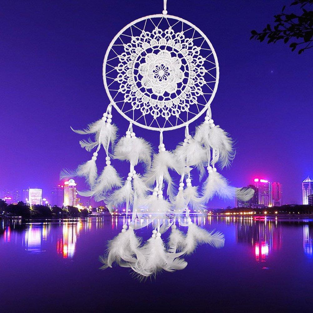 La Cabina Indien Dream Catcher Handemade Attrape-rêves Capteur de Rêves en Plumes - Crochet (01)