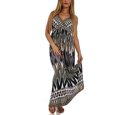 a4f2382cd5d7 Young-Fashion Damen Maxikleid Strandkleid Freizeitkleid Sommer ALS ...