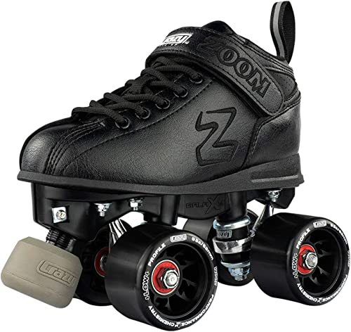 Crazy Skates Zoom Roller Skates – High Performance Speed Skates – Black