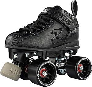 Crazy Skates Zoom Roller Skates - High Performance Speed Skates - Black