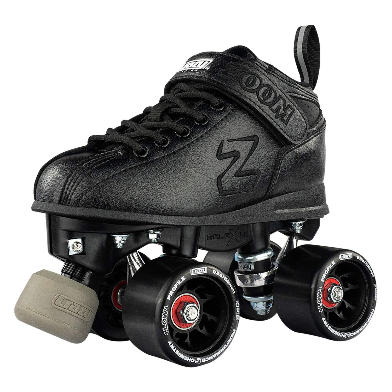 Crazy Skates Zoom Roller Skates – High Performance Speed Skates – Black