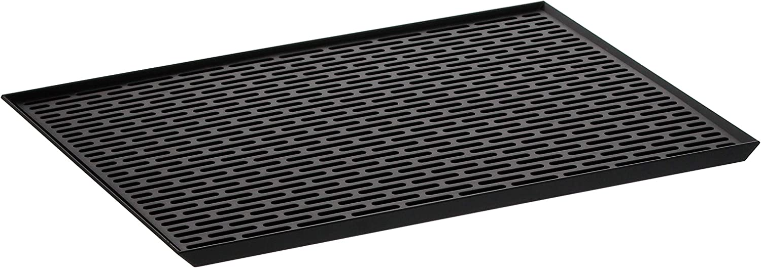 YAMAZAKI home Tower Sink Side Glass Drainer Wide BK Space saving, One Size, Black