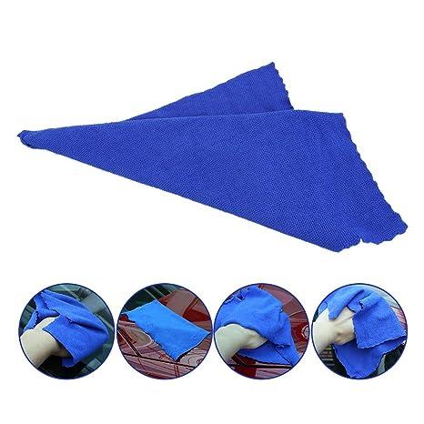 Auntwhale Toallas de microfibra para lavado de autos Toalla absorbente Color aleatorio