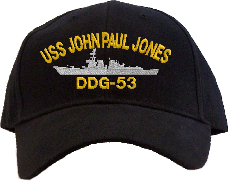 USS John Paul Jones DDG-53 Embroidered Baseball Cap - Black