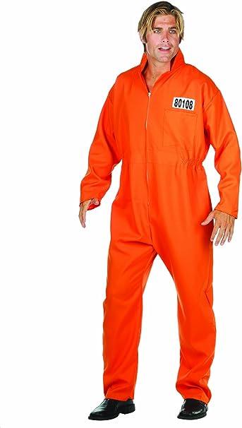 Amazon.com: RG Costumes Escaped Convict, talla única ...