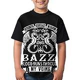 JustinLSullivan Bazzi T Shirt Youth Shirt Boys Teenager Round Neck Short Sleeve Tee