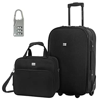 Amazon.com | DAVIDJONES Upright Carry-on & Travel case Luggage Set ...