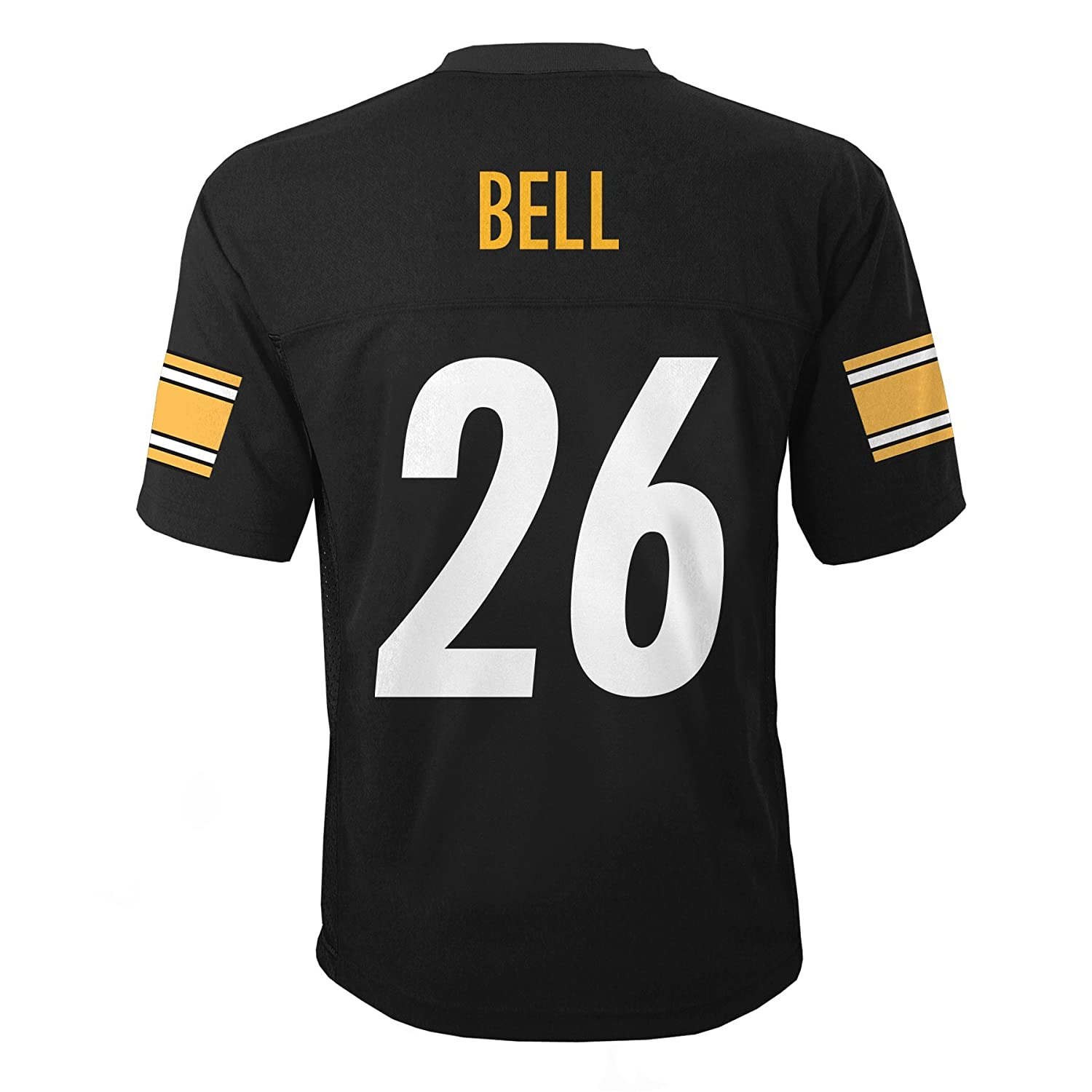 8 Outerstuff NFL Youth Boys 8-20 MID-Tier Jersey TMC Bell L Steelers Black S