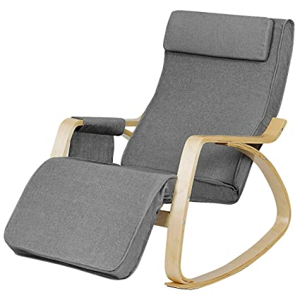 Stupendous Amazon Com Heize Best Price Luxury Gray Rocking Chair Cjindustries Chair Design For Home Cjindustriesco