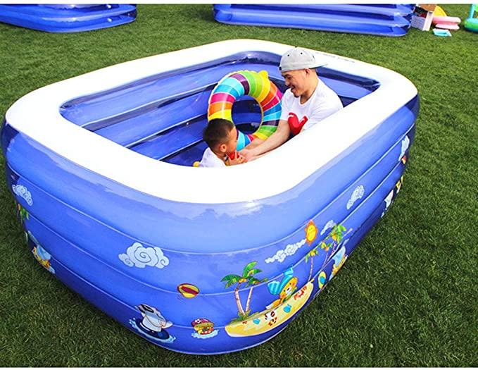 Swimming pool Piscina Inflable YUHAO(UK) para niños - Piscina Rectangular Inflable para niños: Amazon.es: Jardín