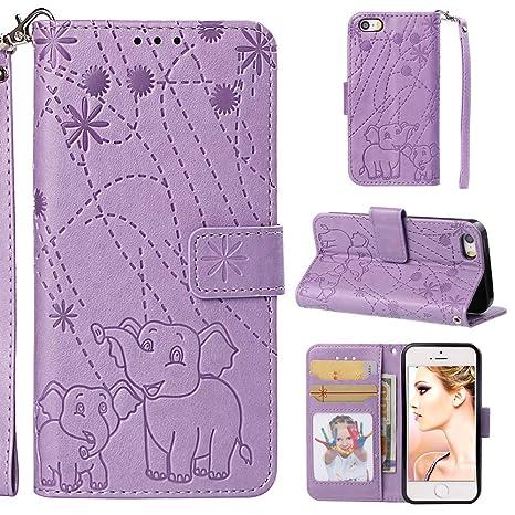 YKTO Vegan Leder Wallet Case iPhone 5 / SE / 5S 4.0