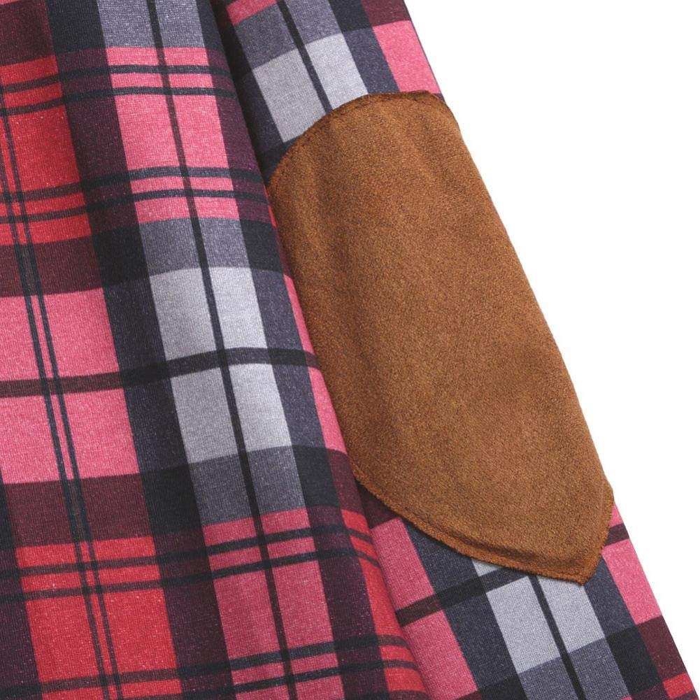 Spbamboo Womens Cardigan Lady Plaid Print Jacket Casual Long Sleeve Coat Outwear by Spbamboo (Image #5)