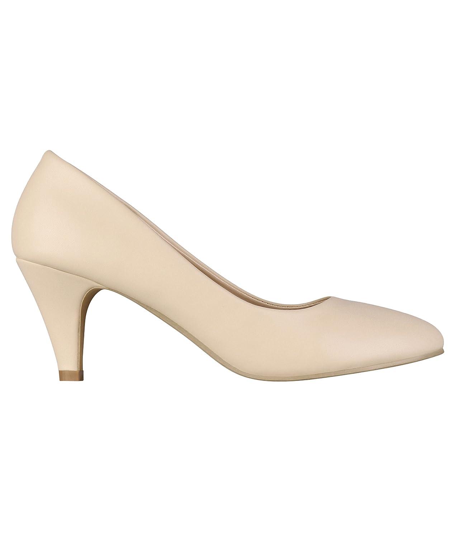 8c20219bc8c5 YE Escarpins Femmes Chaussures Sexy et Simple Bout Pointu à Talon ...