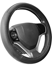 "SEG Direct Black Microfiber Leather Steering Wheel Cover for Prius Civic 14"" - 14.25"""