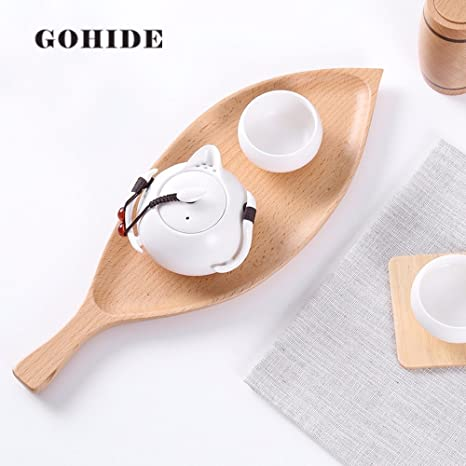 A Piece of Gohide Creative Solid Wood Dish Plates Stylish Fruits/Snacks/Desserts Plate & Amazon.com: A Piece of Gohide Creative Solid Wood Dish Plates ...