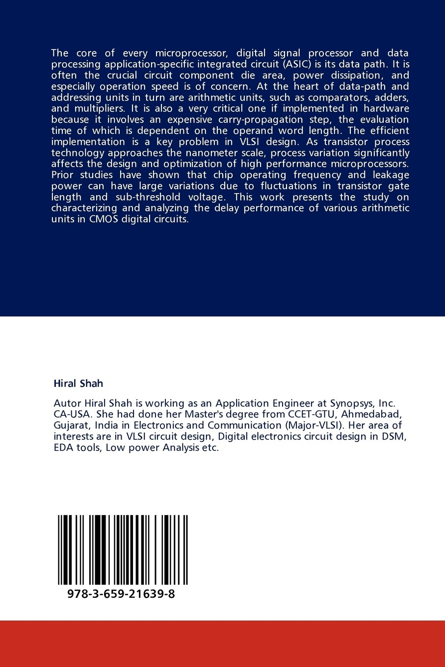 Design Performance Evaluation Of Arithmetic Units In Dsm Vlsi Electronic Circuit Tools Digital Hiral Shah 9783659216398 Books