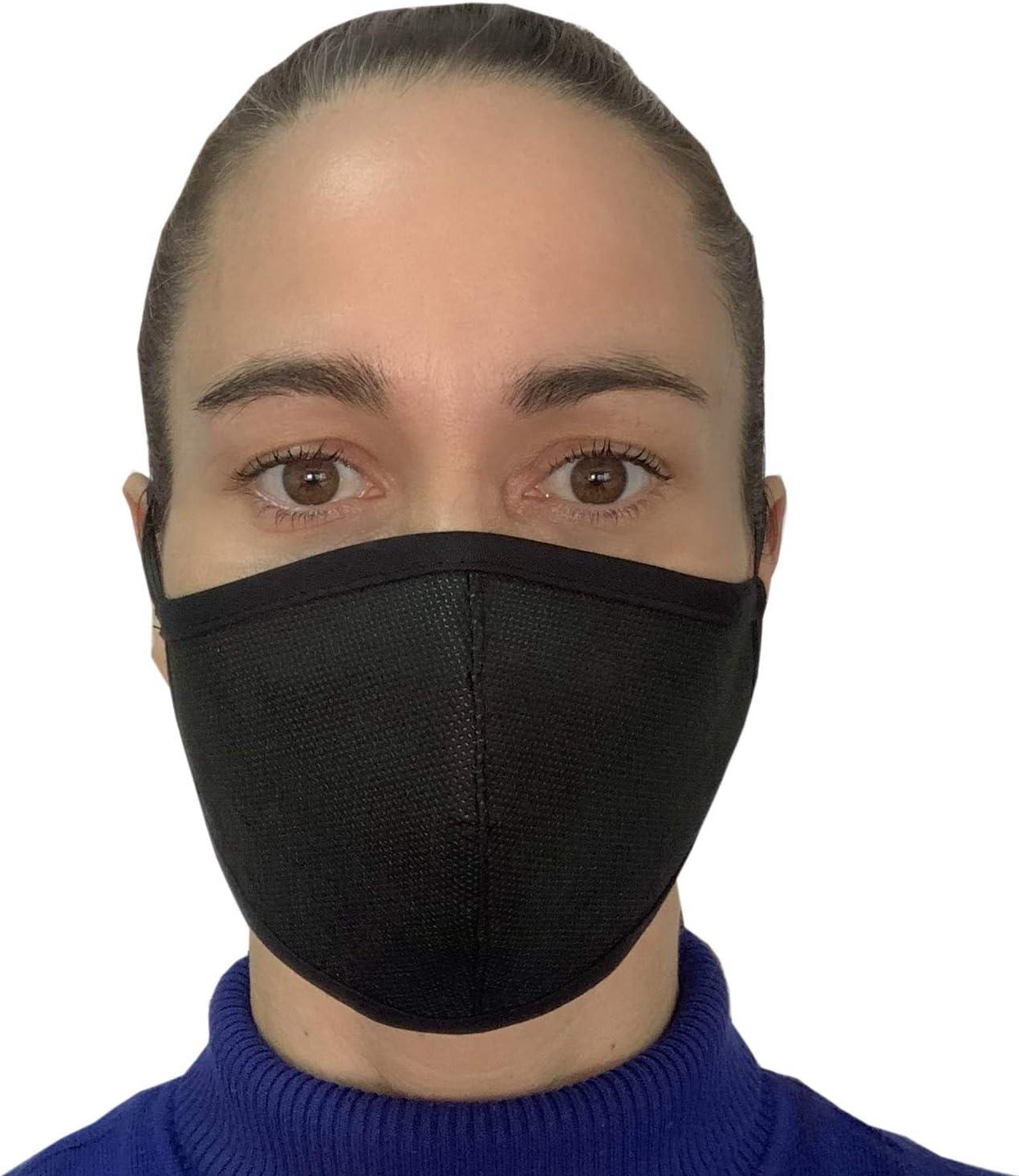 Pack de 4 Mascarillas de Protección contra las bacterias lavables y reutilizables de Color Negro