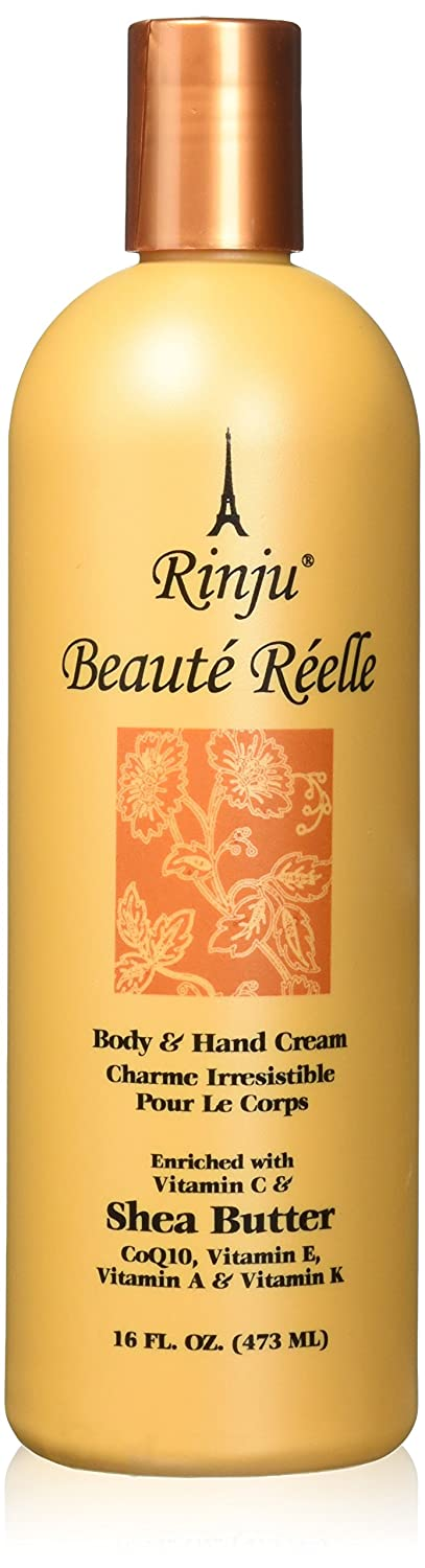 Rinju Beaute Reelle Body & Hand Cream 16 oz by Rinju Beaute Reelle Body & hand Cream SHEA BUTTER