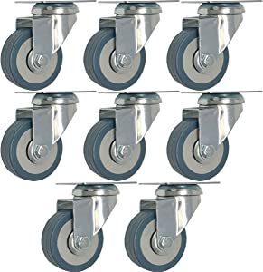 Online Best Service 8 pack 2-Inch Heavy Duty Swivel Wheel Polyurethane Plate Caster (2