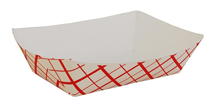 Southern Champion Tray 0417 #200 Southland Red Check Paperboard Food Tray / Boat / Bowl, 2 lb. Capacity (Case of 1000)
